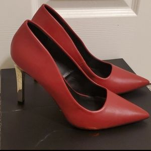 Red & Gold Pumps